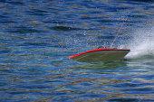 RC boat running