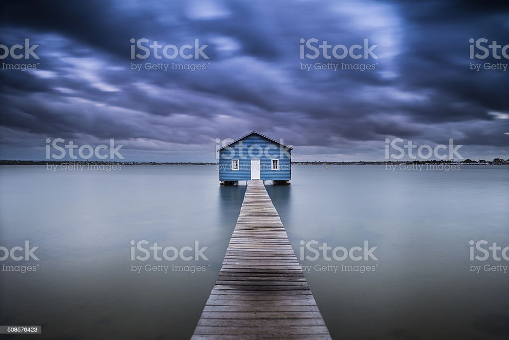 Boat shed stock photo