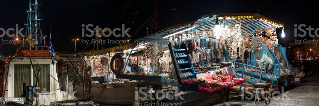 Boat shop stock photo