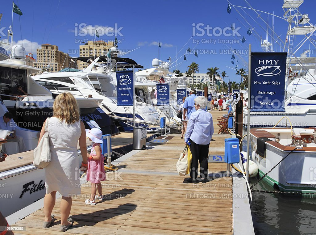 Boat show in West Palm Beach stock photo