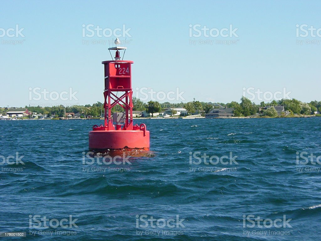 Boat Signal in Ocean royalty-free stock photo