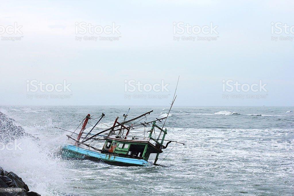 Boat Sinking royalty-free stock photo
