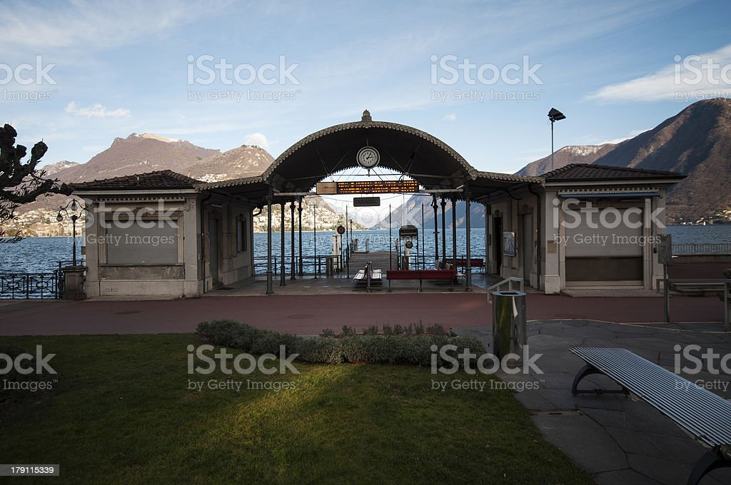 Boat station royalty-free stock photo