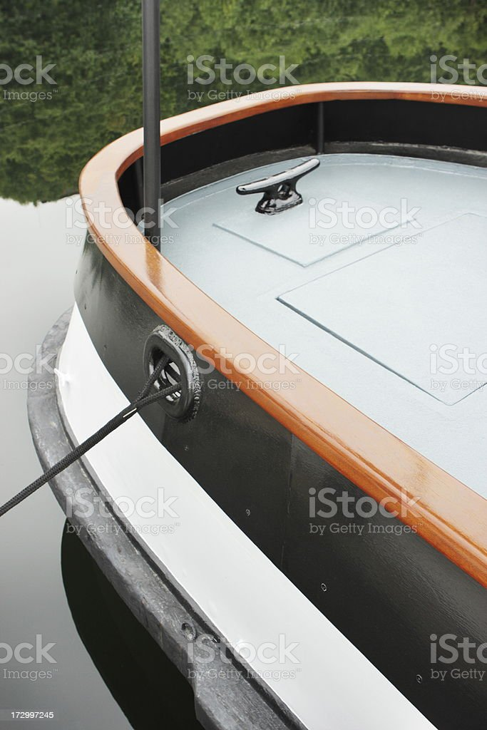 Boat Stern Hull Deck Mooring Cleat royalty-free stock photo