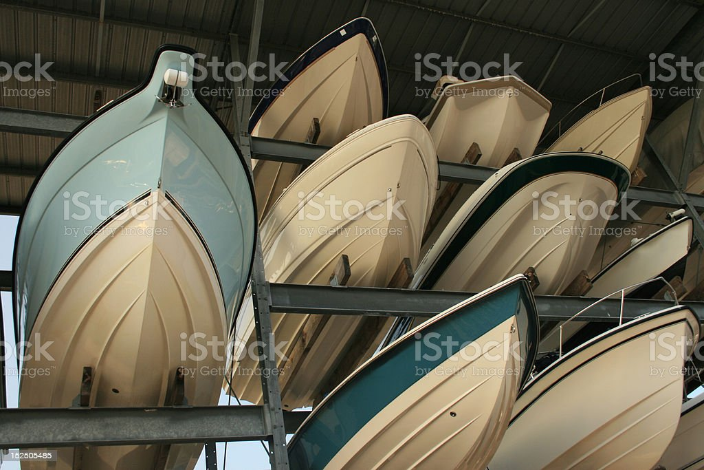 Boat Storage stock photo
