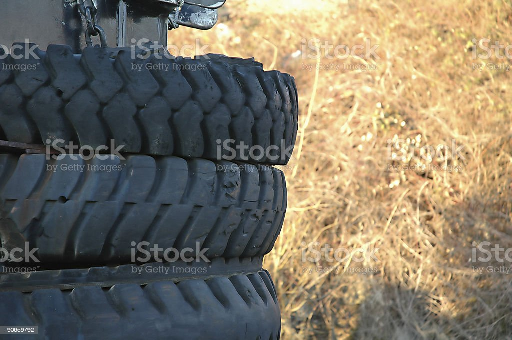 Boat Tires royalty-free stock photo