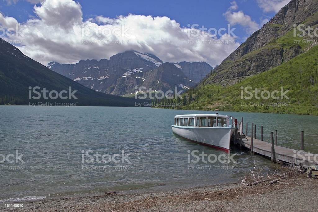 Boat Tour in the Rockies royalty-free stock photo