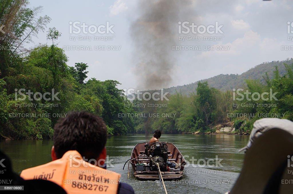 Excursiones en bote en el norte de Tailandia foto de stock libre de derechos