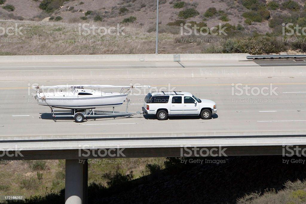 Boat Tow royalty-free stock photo