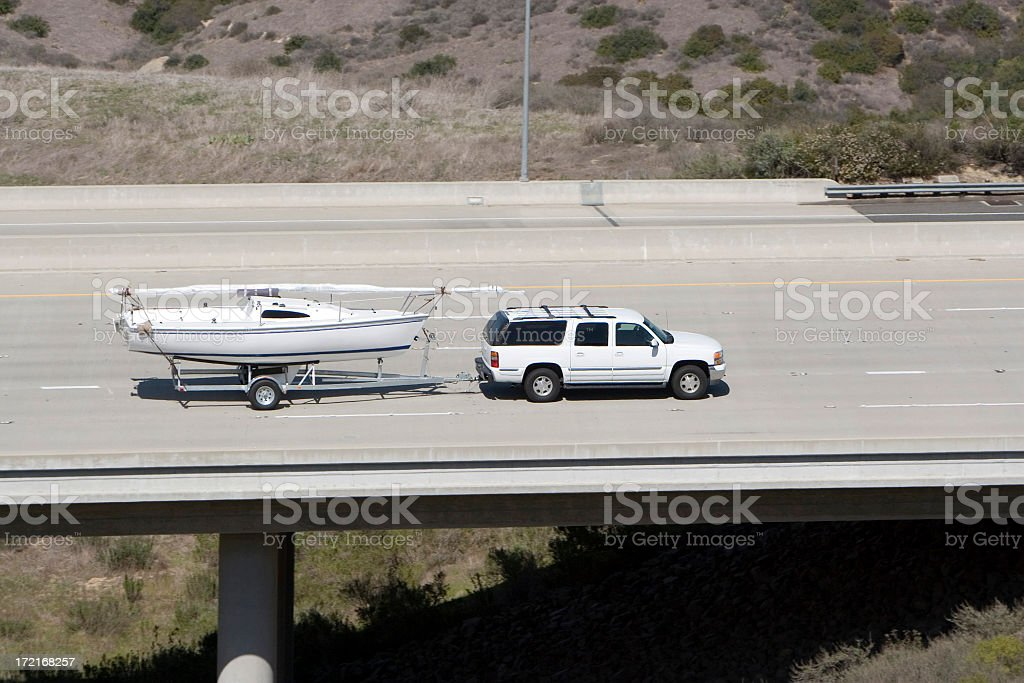 Boat Tow stock photo