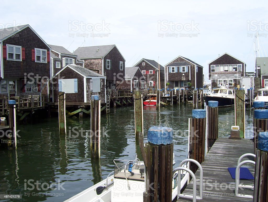 boat town stock photo