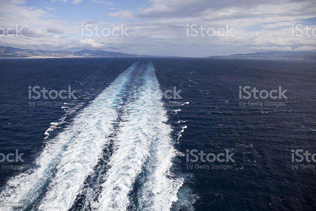 Boat track royalty-free stock photo