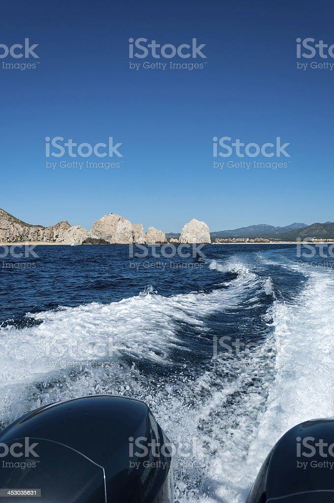 Boat Track stock photo