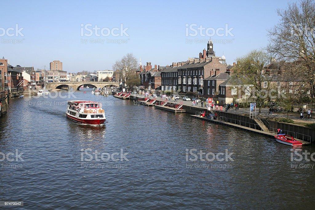 Boat trip in York. stock photo
