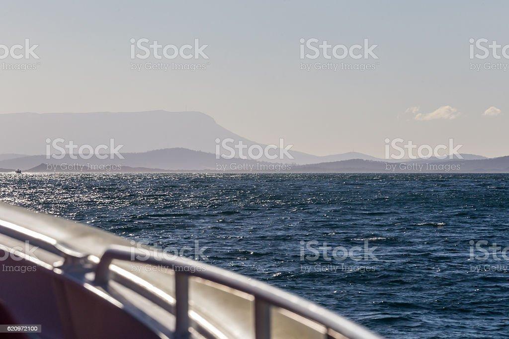 Boat trip on the Tasman Sea stock photo
