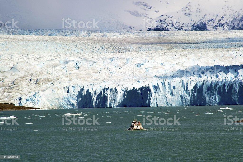Boat Trip Perito Moreno Glacier in Patagonia, Argentina royalty-free stock photo
