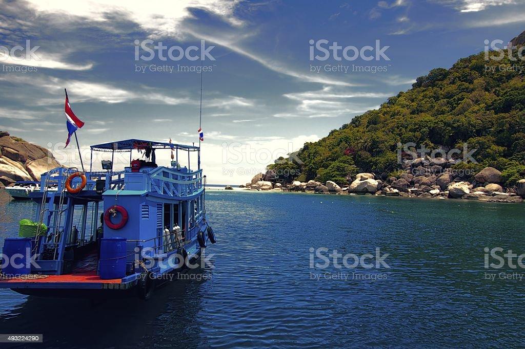 Boat trip to Nanyuan stock photo
