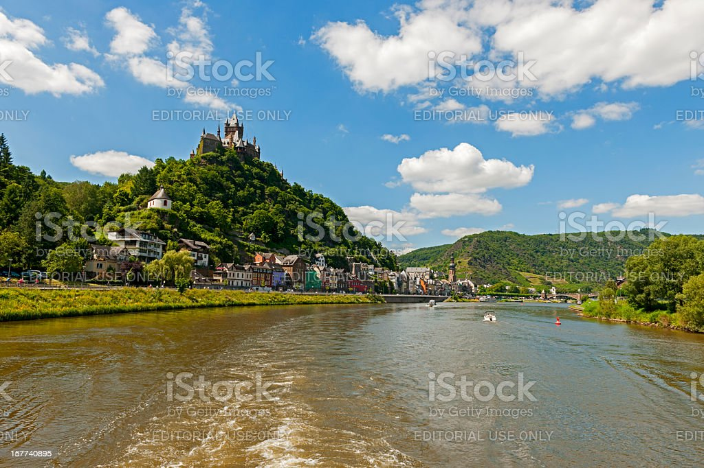 Boat trips on the Moselle. stock photo