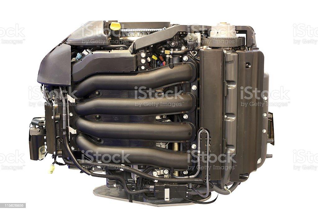 boat turbo engine isolated royalty-free stock photo