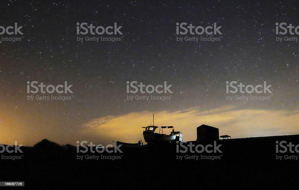 Boat under the Stars royalty-free stock photo