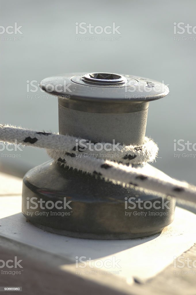 boat winch royalty-free stock photo