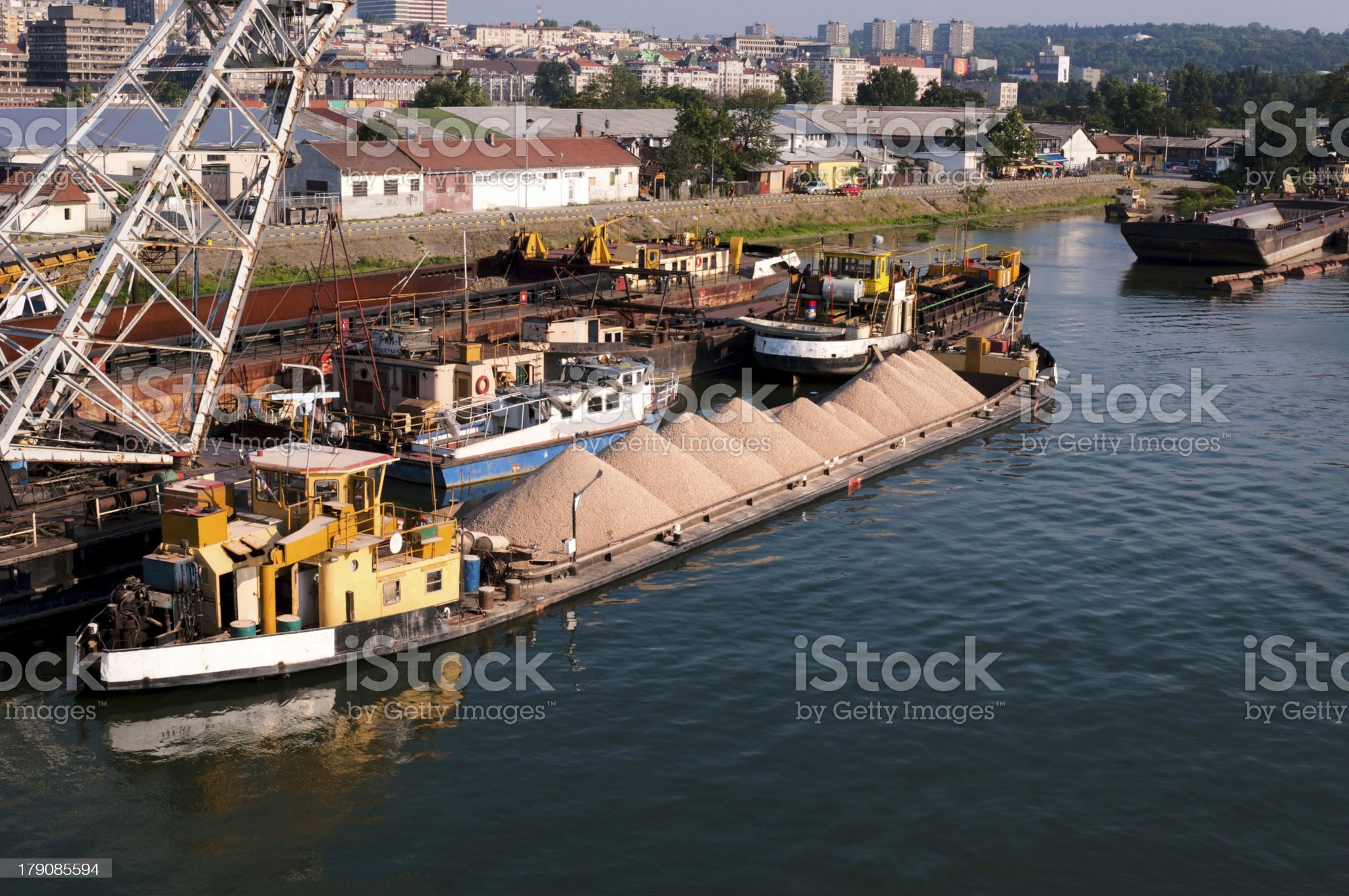 Boat with sand royalty-free stock photo