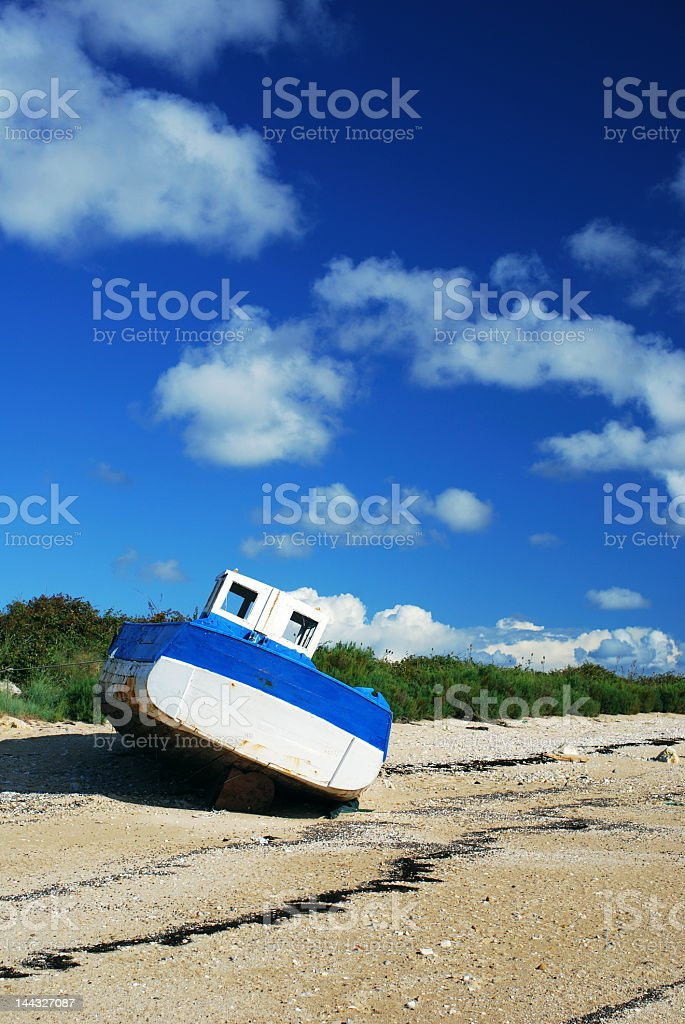 Boat wreck #1 royalty-free stock photo