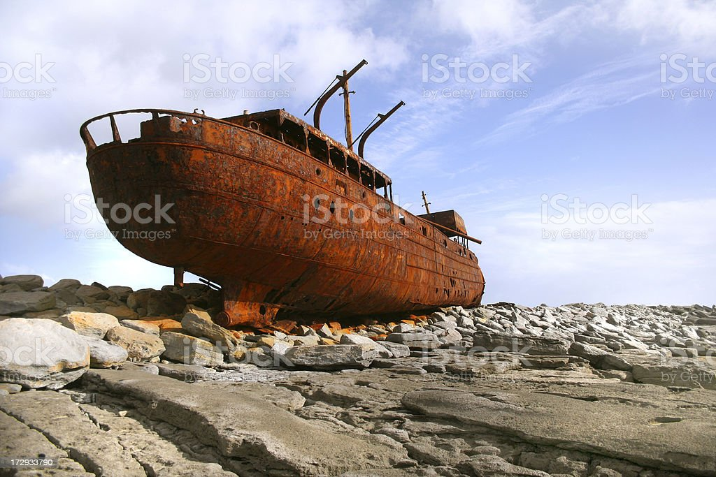 Boat Wreck royalty-free stock photo