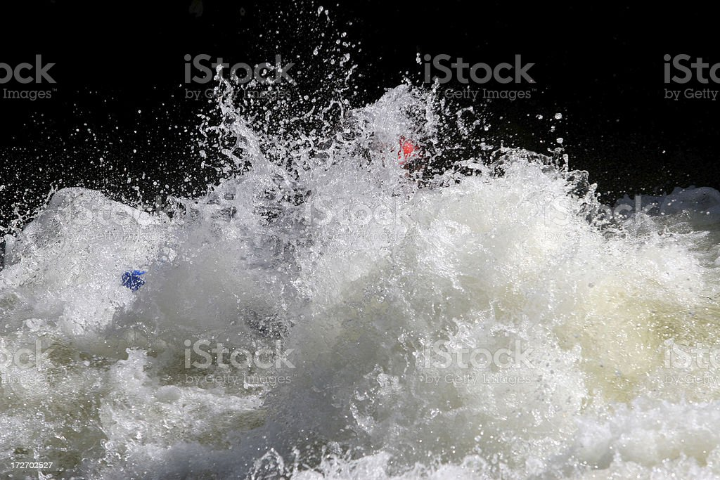Boater Hiding stock photo