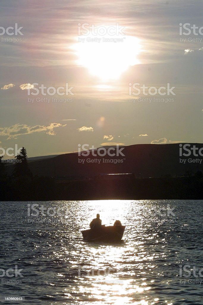 Boater Silhouette royalty-free stock photo