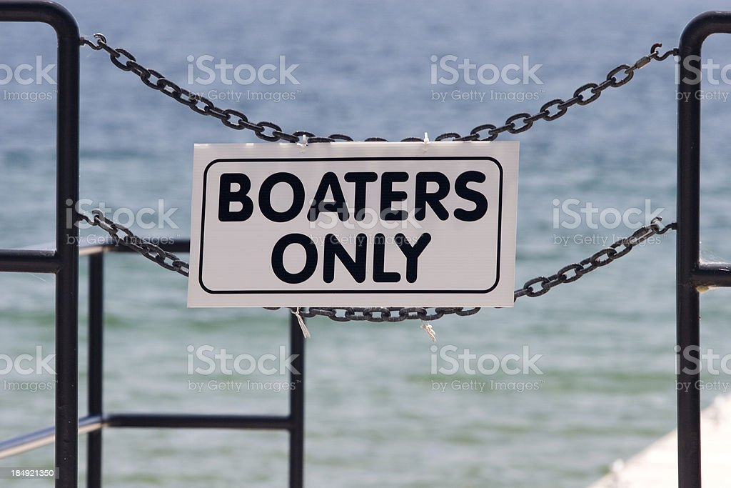 Boaters Only stock photo