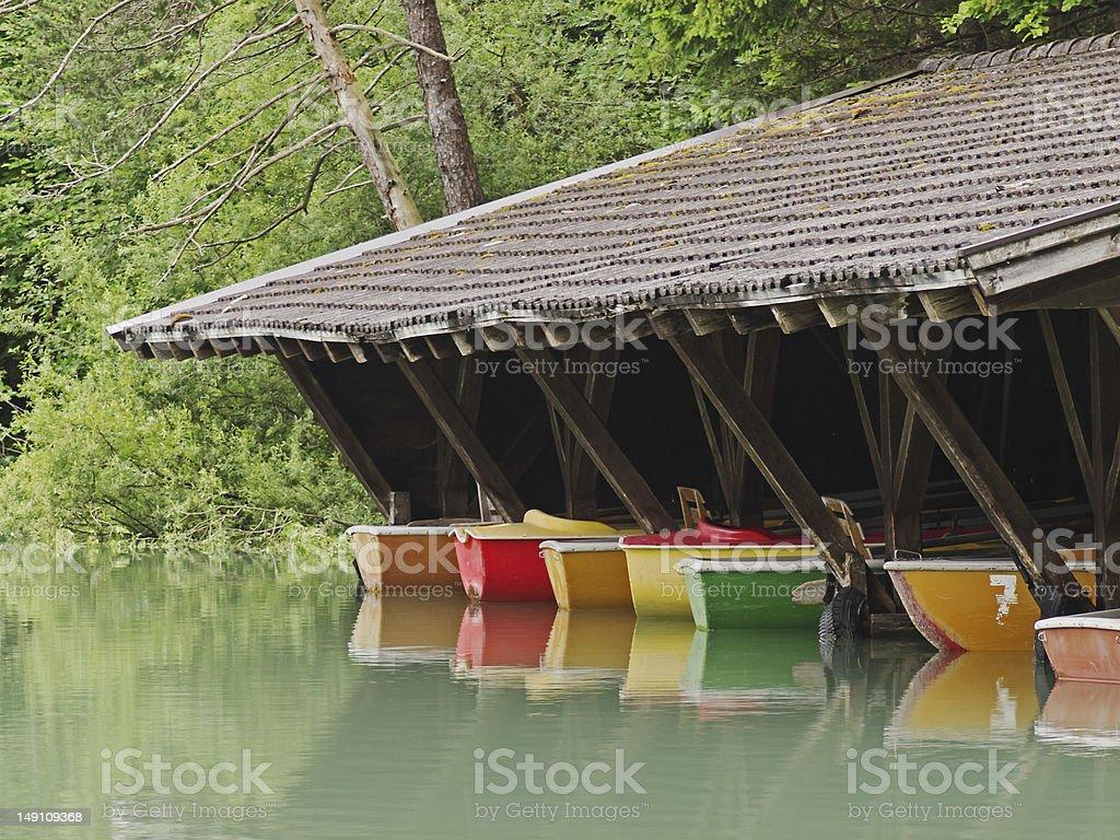 Boathouse / Boat Shed stock photo