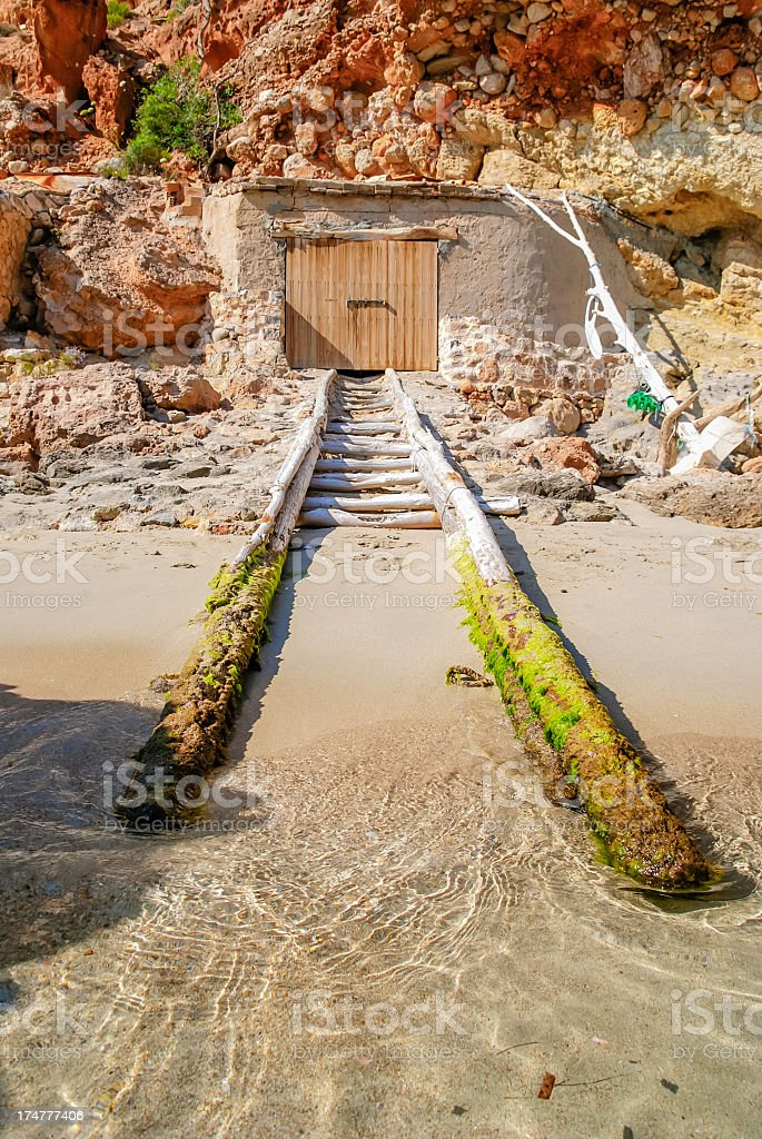 Boathouse Ibiza royalty-free stock photo