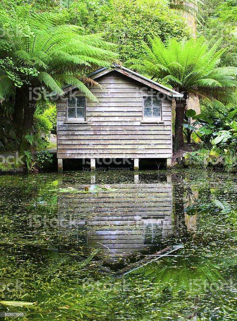 Boathouse in the Dandenongs, Victoria, Australia royalty-free stock photo