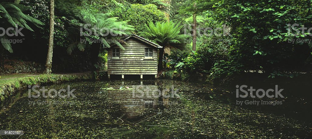 Boathouse in the Dandenongs, Victoria, Australia royalty-free stock photo