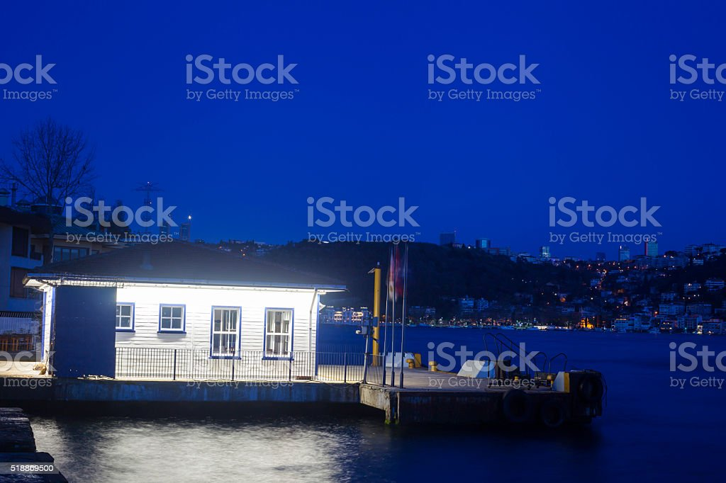 boathouse light stock photo