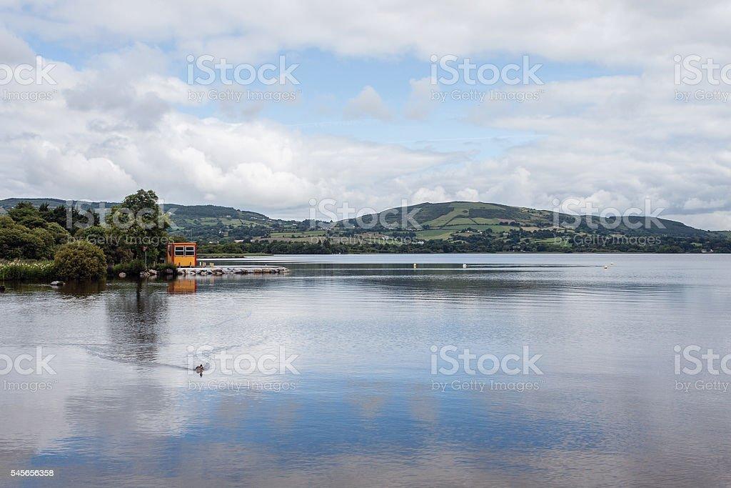 Boathouse on Lough Derg lake, River Shannon, Ballina, Munster, Ireland stock photo