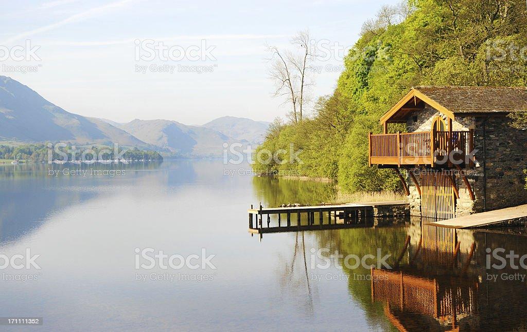 Boathouse on Ullswater stock photo
