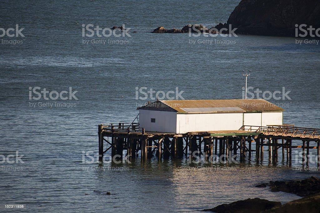 Boathouse royalty-free stock photo
