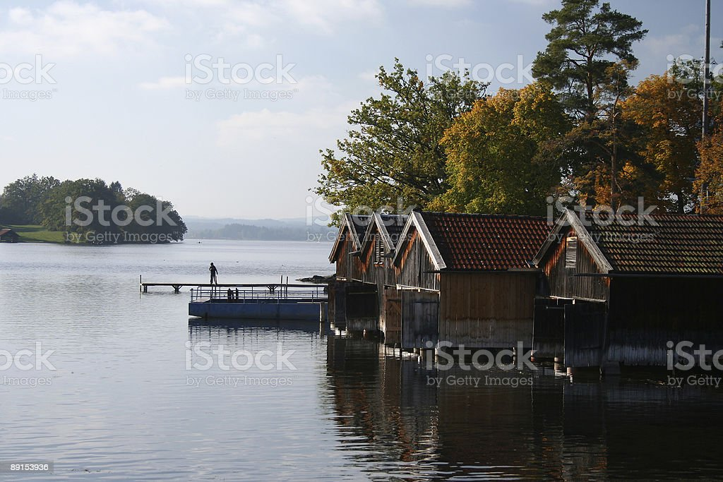 Boathouse royalty-free stock photo