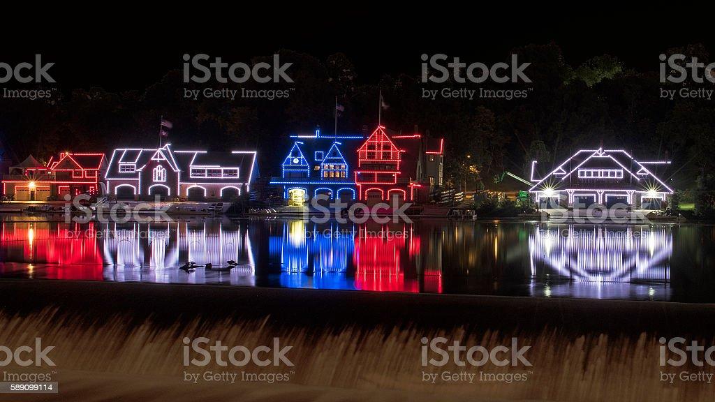 Boathouse Row Philadelphia PA. stock photo