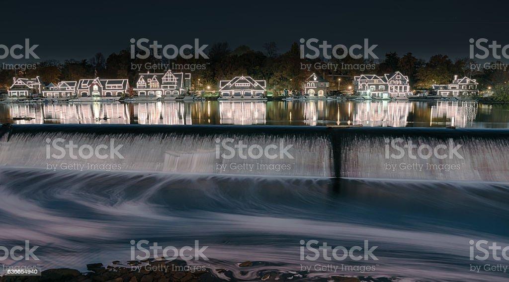 Boathouse Row Reflection stock photo