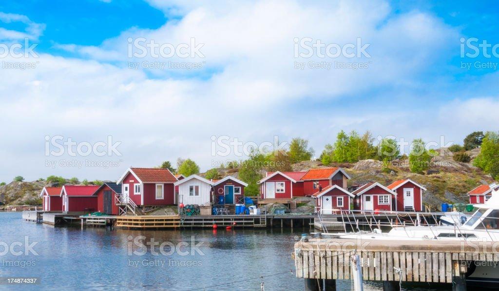 Boathouses royalty-free stock photo