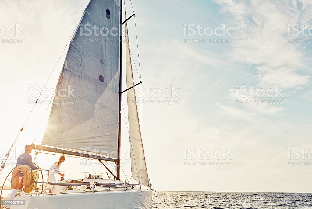 Boating around stock photo