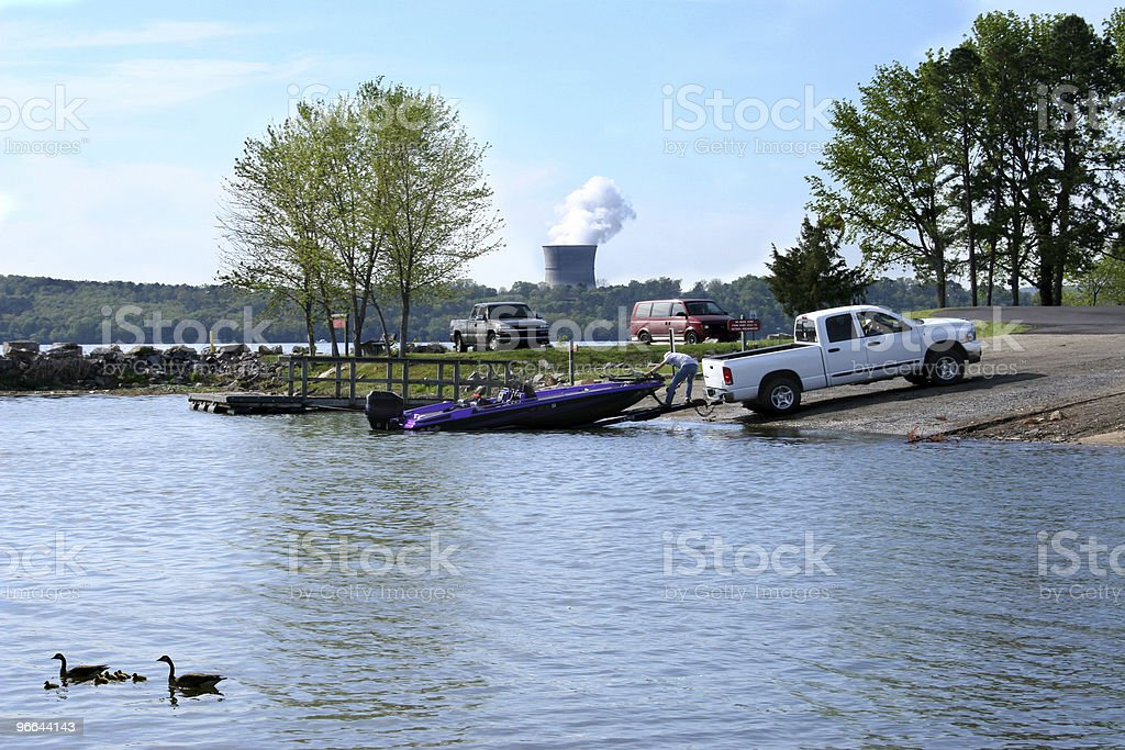 Boating At The Park royalty-free stock photo