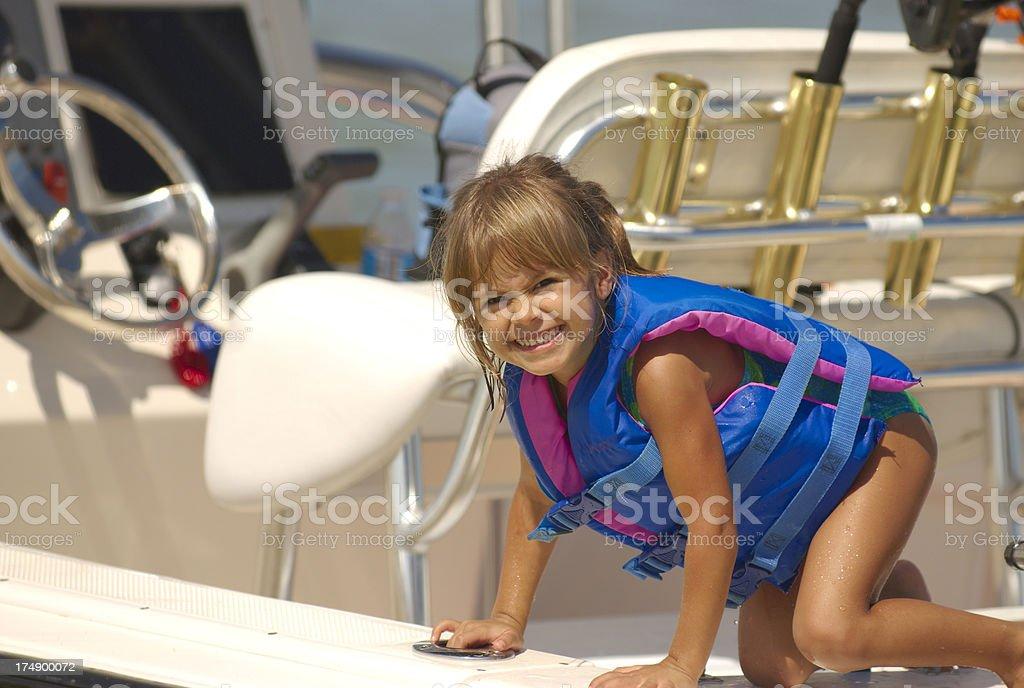 Boating Girl royalty-free stock photo