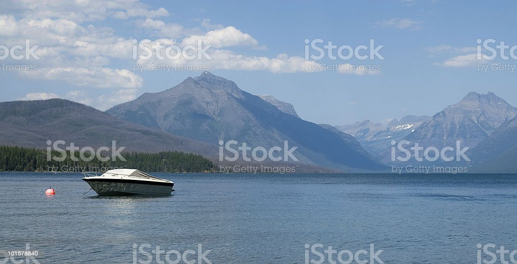 Boating In Glacier Park royalty-free stock photo