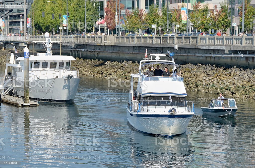 Boating in Seattle stock photo