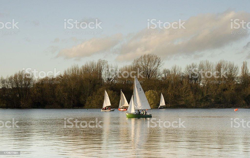 Boating lake stock photo