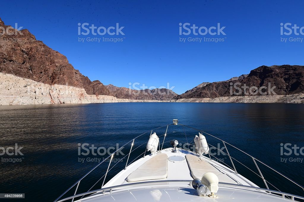Boating on Lake Meade stock photo